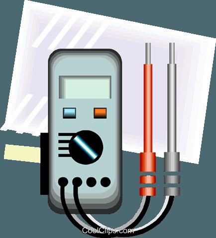 current meter Royalty Free Vector Clip Art illustration.