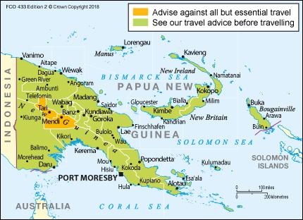 Papua New Guinea travel advice.