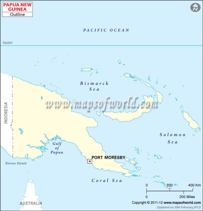 Papua New Guinea Time Zone Map, Current Local Time in Papua New Guinea.