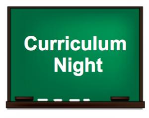 Curriculum Night.