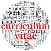 Clipart of Curriculum vitae concept in word tag cloud k11288991.
