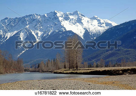 Stock Photo of Mt. Currie rises above Pemberton Valley and.