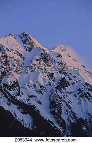Stock Photo of Mount Currie Rises Above Pemberton Valley.