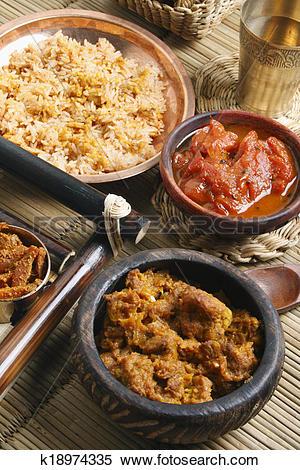 Stock Image of Cabbage Kofta curry.