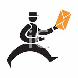 Courier Delivering Correspondence.