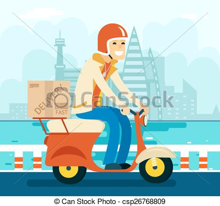Courier delivery Clipart Vector and Illustration. 10,756 Courier.