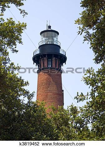 Stock Photo of Currituck Lighthouse, Carolla, NC k3819452.