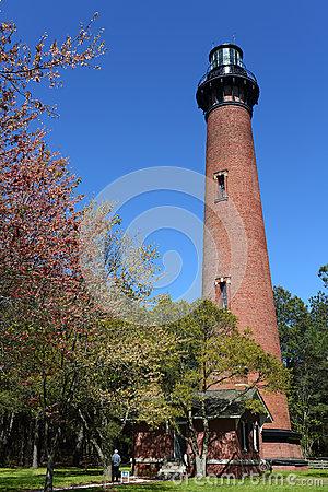 Currituck Beach Lighthouse Royalty Free Stock Photo.