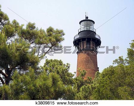 Stock Image of Currituck Beach Lighthosue, NC k3809815.
