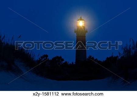 Stock Photo of Currituck Beach Lighthouse, Corolla, Outer Banks.