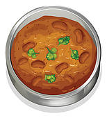 Indian Curry Clip Art.