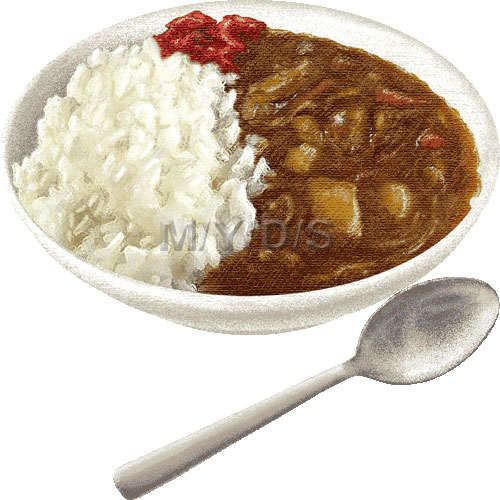 Curry Rice, Japanese Curry clipart / Free clip art.