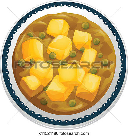 Chicken curry clipart.