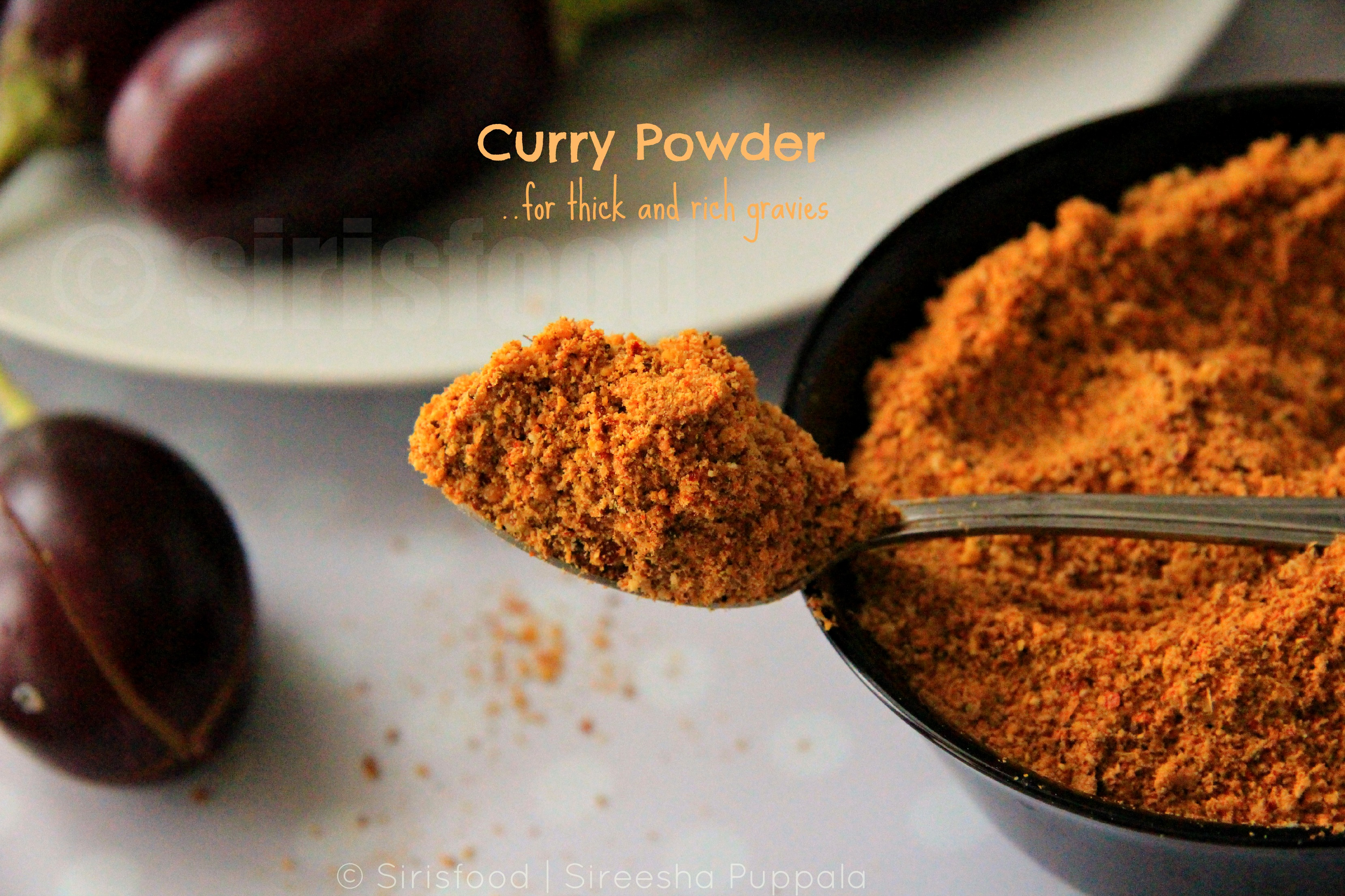 Multi Purpose Curry Powder.