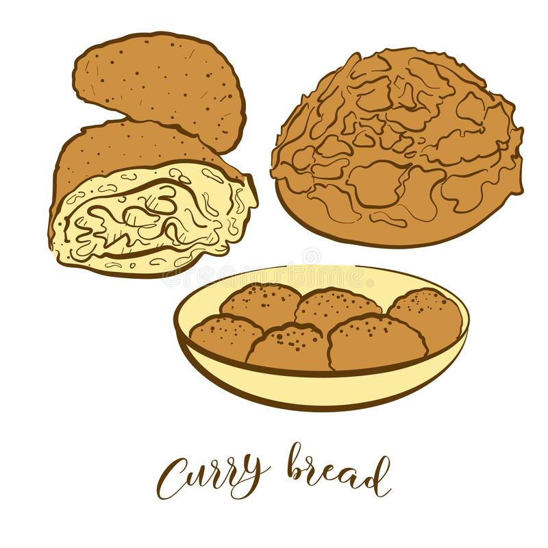 Curry Puff Stock Illustrations.
