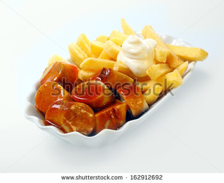Currywurst Stock Photos, Royalty.