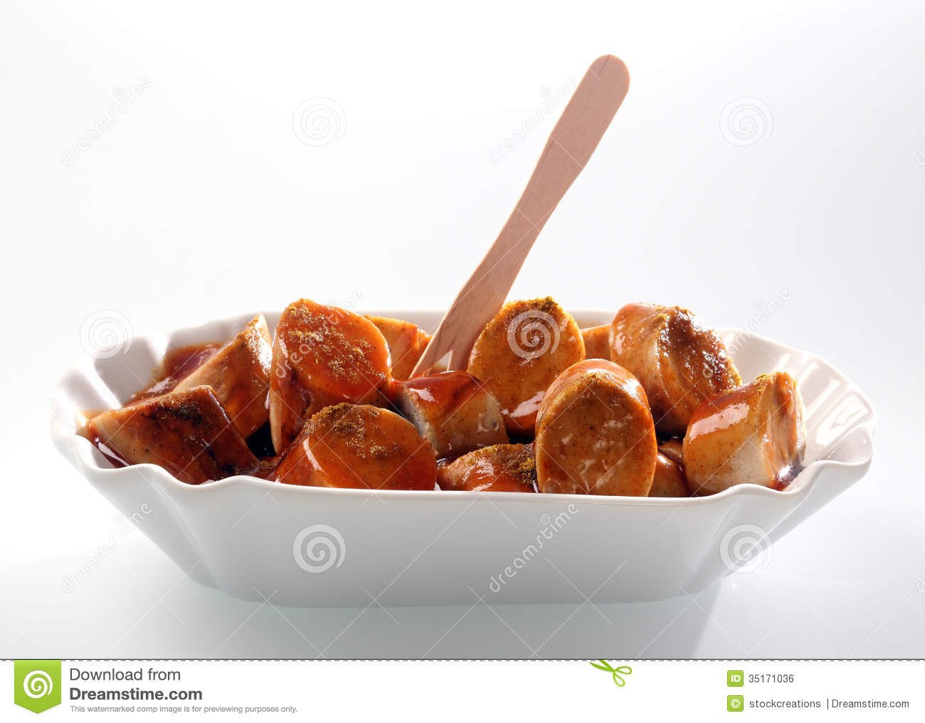 Curry Sausage Chips Stock Photos, Images, & Pictures.