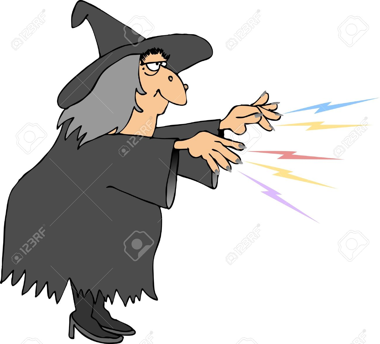 Witch Casting A Spell Stock Photo, Picture And Royalty Free Image.