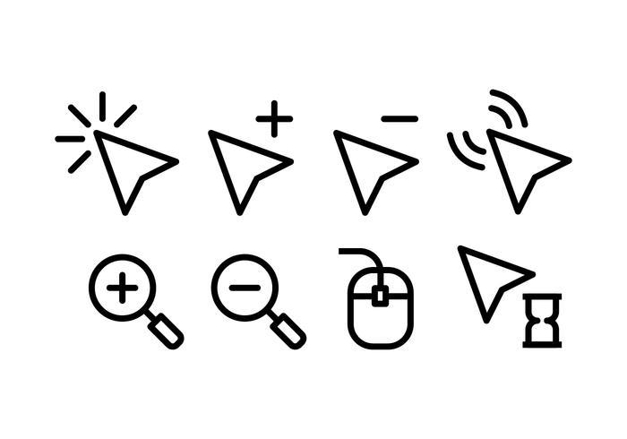 Icônes de pointeur de souris.