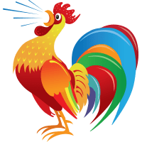 Rooster Clipart De Colores Pencil And In Color Rooster Free Coloring.
