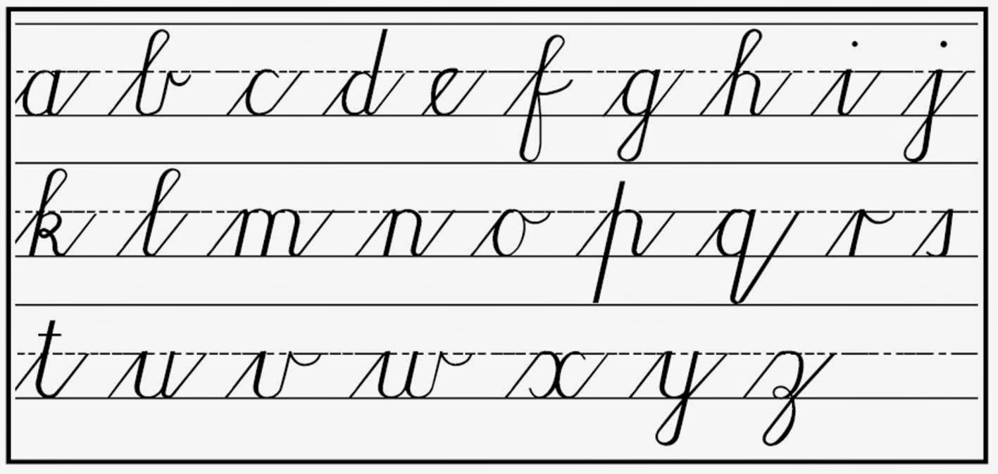 cursive writing lowercase Free printable cursive writing worksheets - cursive alphabet, cursive letters, cursive words, cursive sentences practice your penmanship with these handwriting worksheets from k5 learning.
