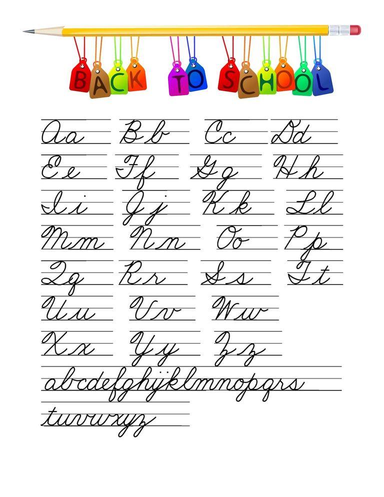 Learn Cursive Writing.