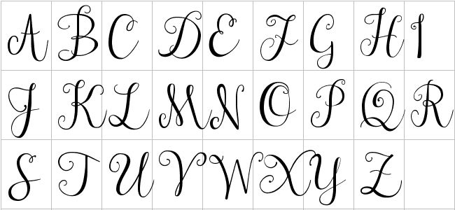 cursive-l-clipart-1 Old English Letters Template Letter O on best cover, sample recommendation,