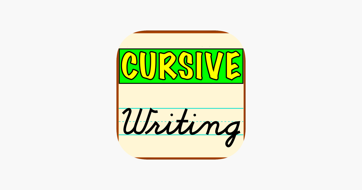 Cursive Writing.