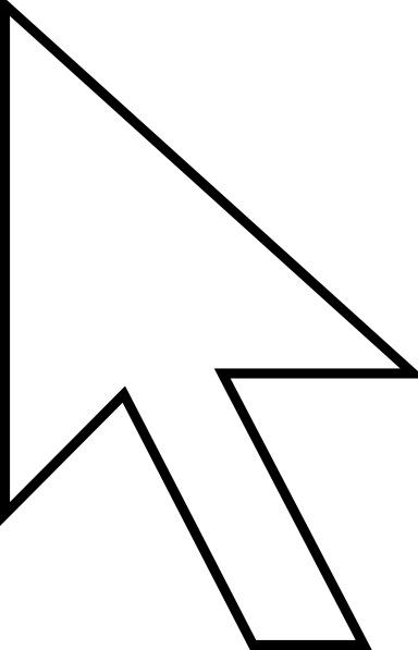 Cursor Arrow clip art Free vector in Open office drawing svg.