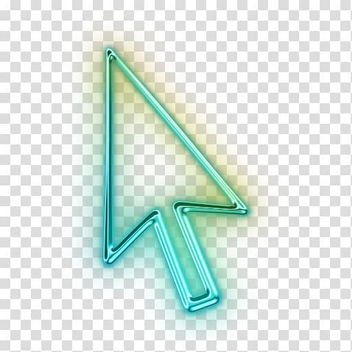Green arrow illustration, Computer mouse Pointer Arrow Icon, Cursor.