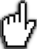 Hand Cursor clip art Free Vector.