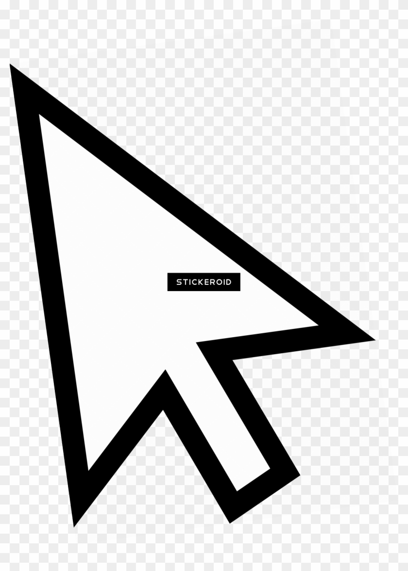 White Mouse Cursor Arrow By Qubodup.