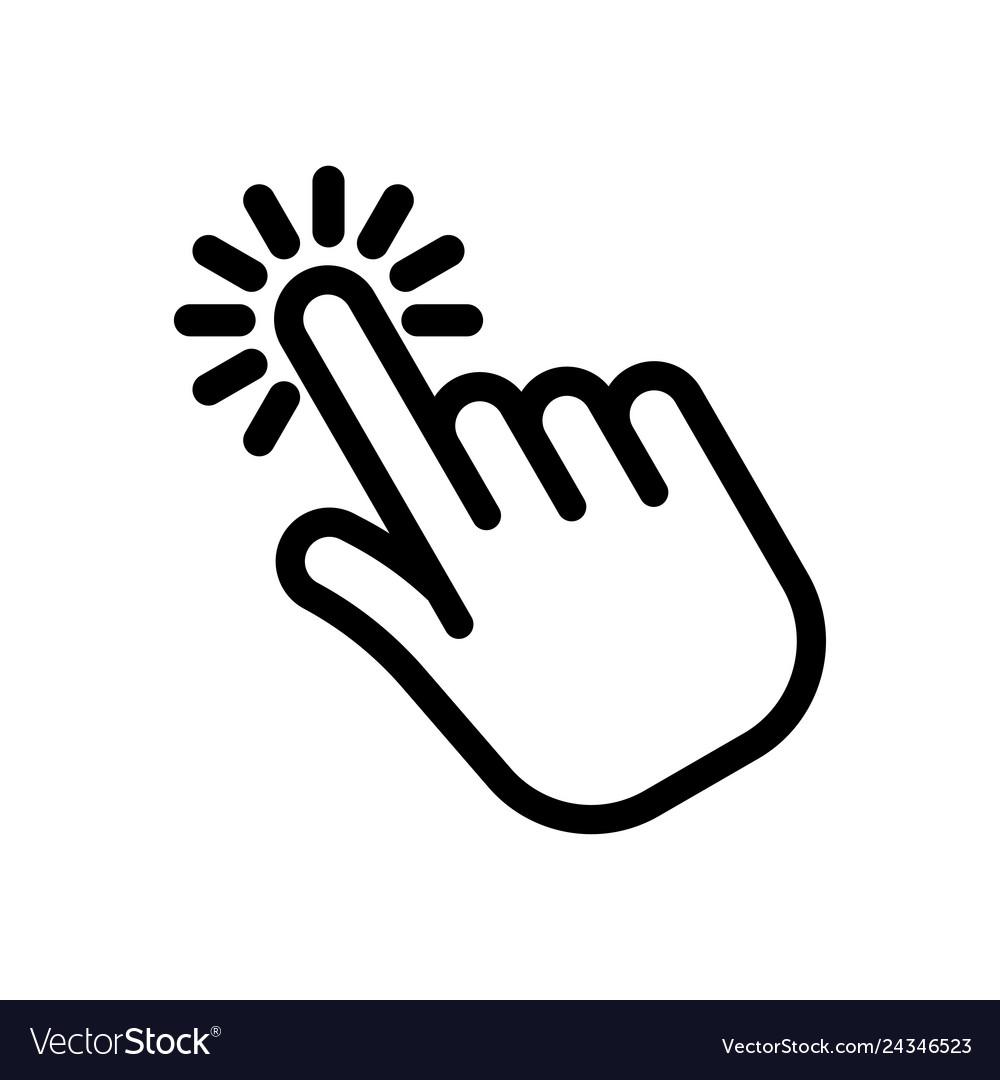 Cursor pointer hand clicking icon.