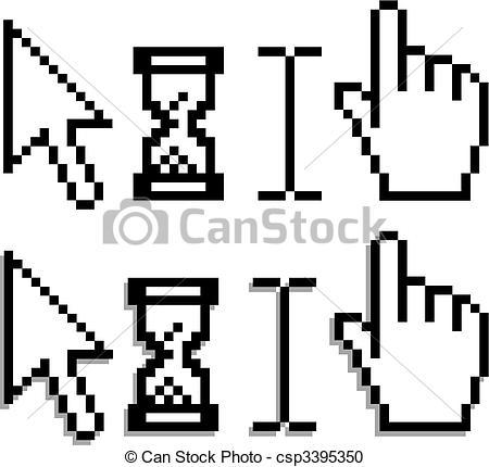 Vector Clipart of Web cursor.