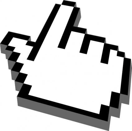 Mouse cursor clipart.