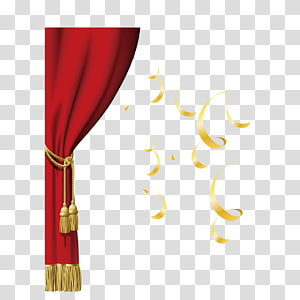 Red Curtain PNG clipart images free download.