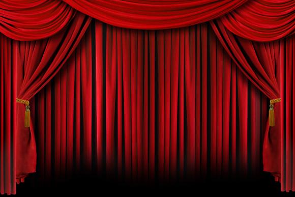 Curtain call clipart.