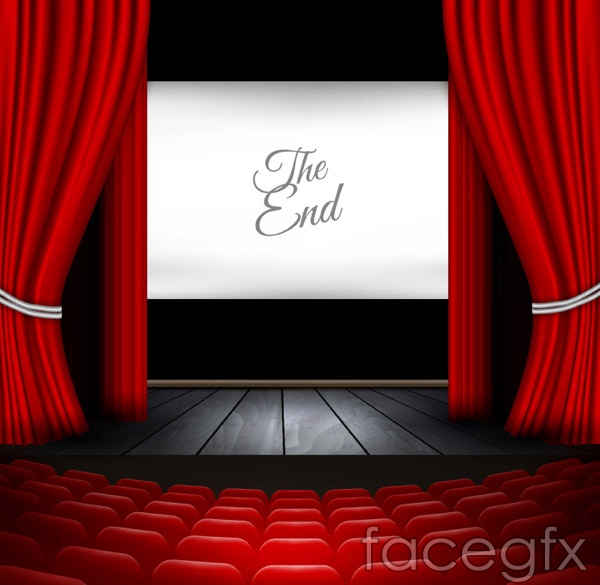 The stage curtain call vector.