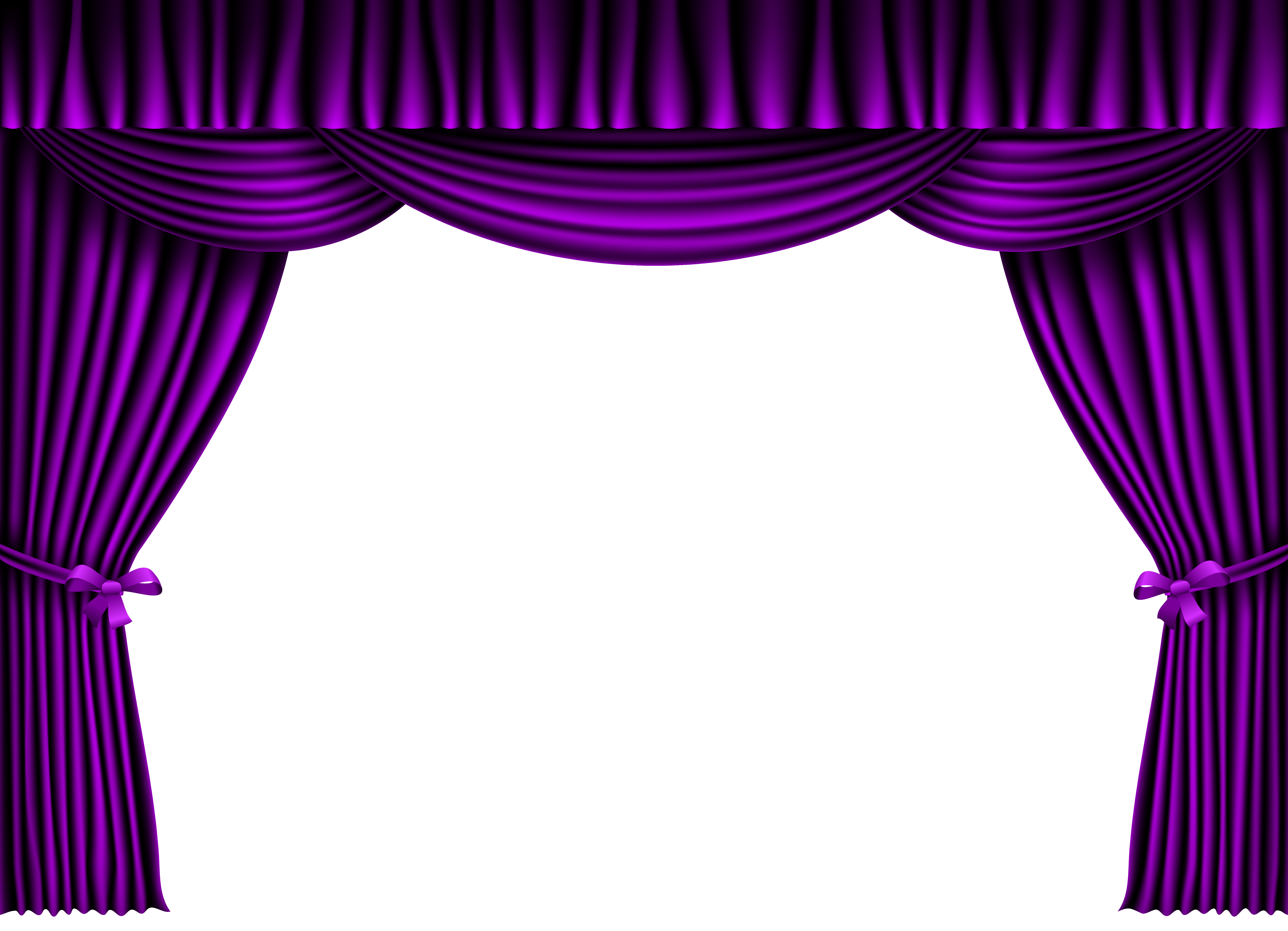 Purple Curtain PNG Clipart Image.