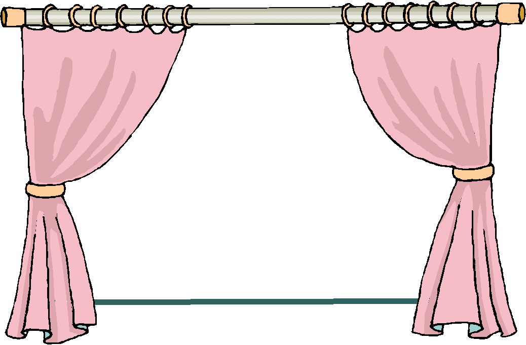 Window With Curtains Clipart.