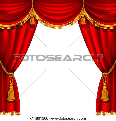 Clip Art of Stage Curtain k9593446.