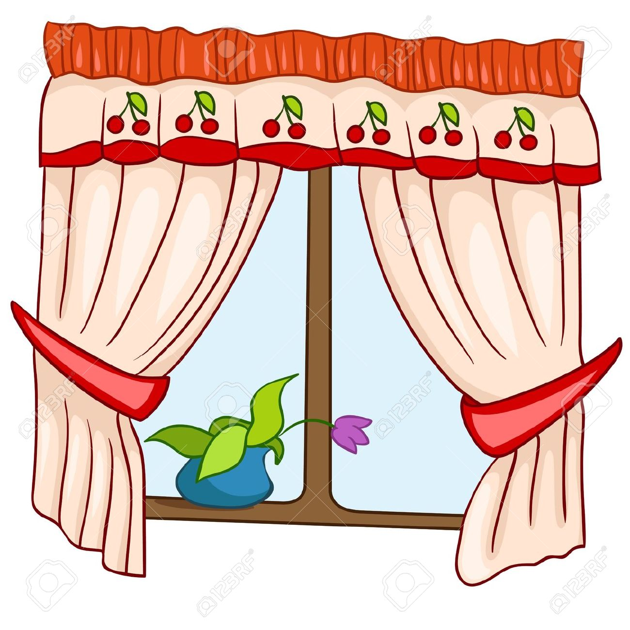 Animated curtains clipart.