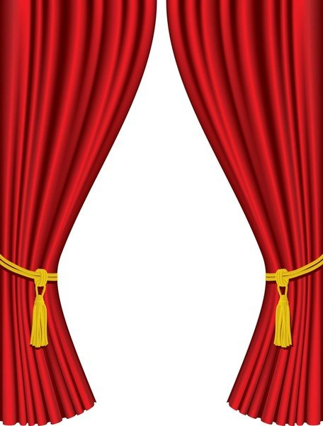 Stage Curtain Clip Art, Vector Stage Curtain.
