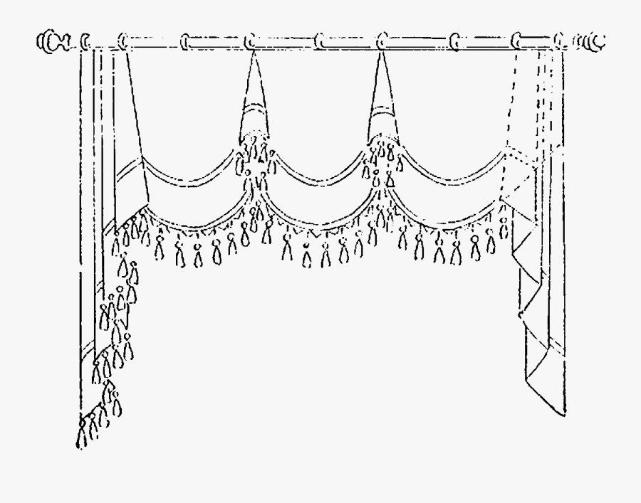 Curtain Clipart Black And White.