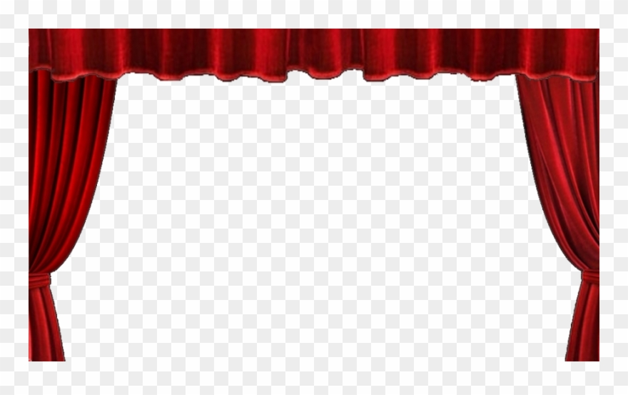 Stage Curtains Transparent Background Clipart (#1028090.