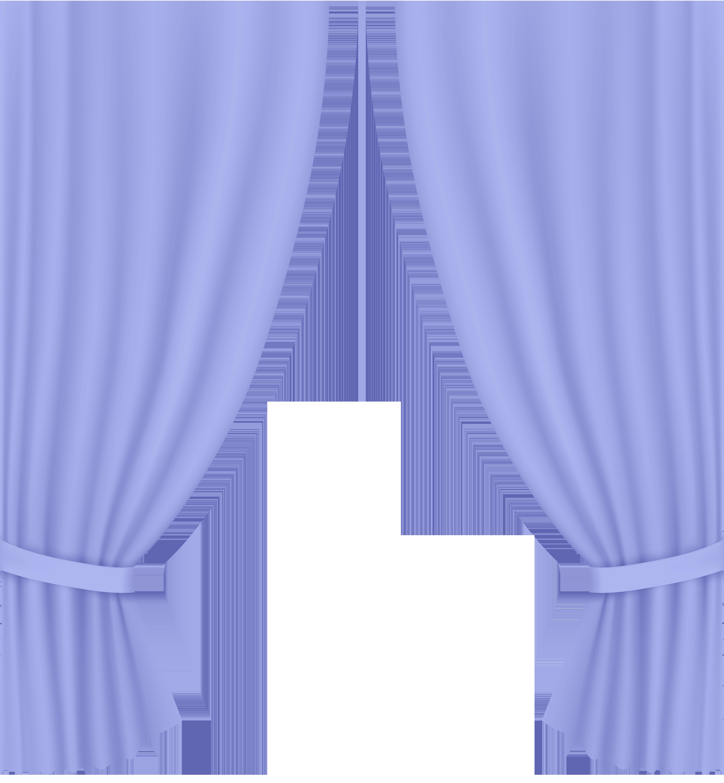Transparent Curtain Violet Clip Art PNG Image.