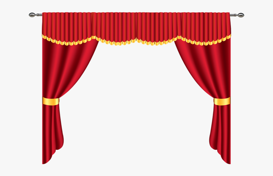 Curtain Clipart Stage Decoration.