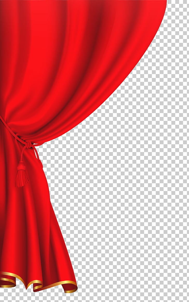 Window Blinds & Shades Curtain , red curtain PNG clipart.