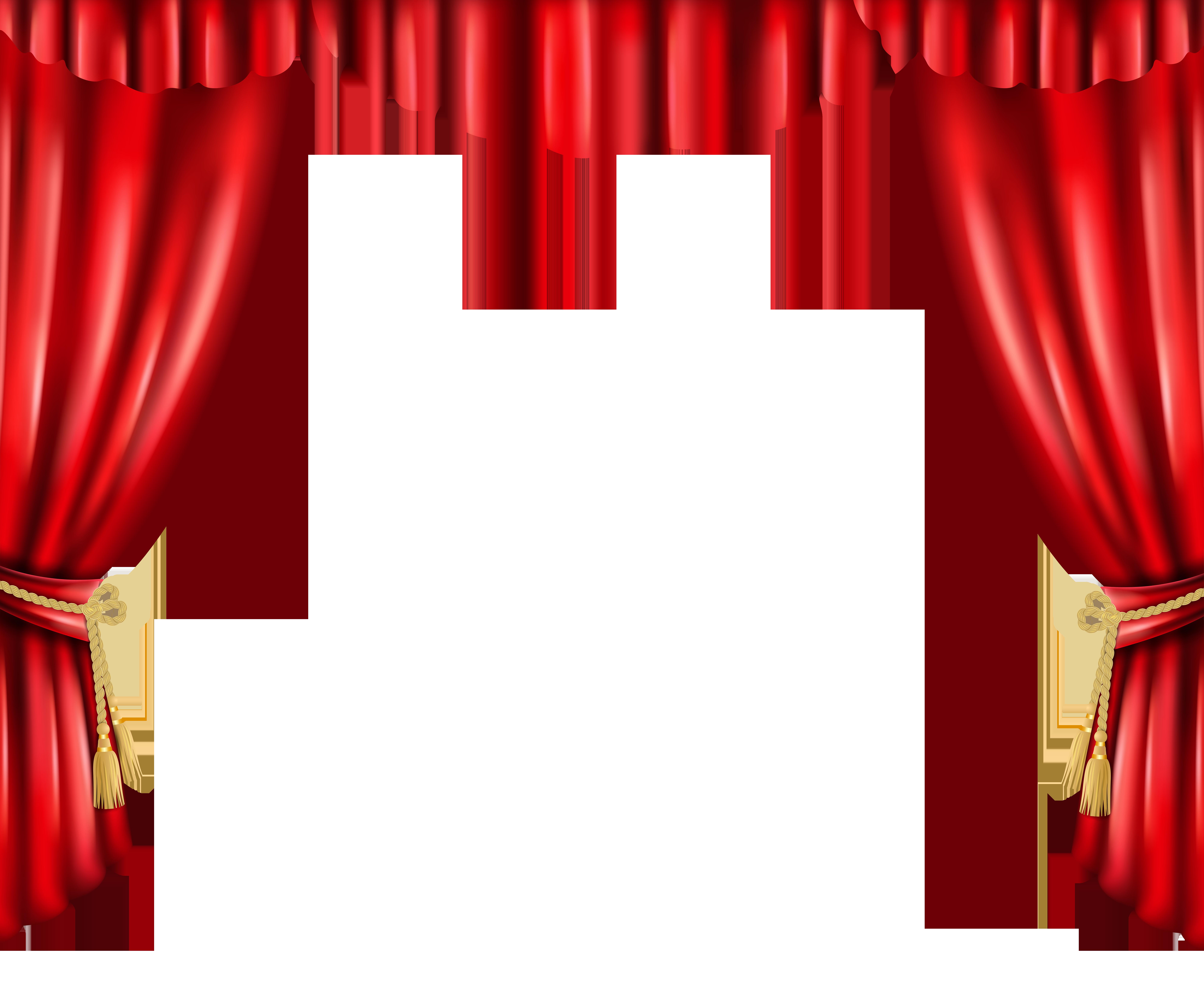 Curtain PNG Transparent Clip Art Image.