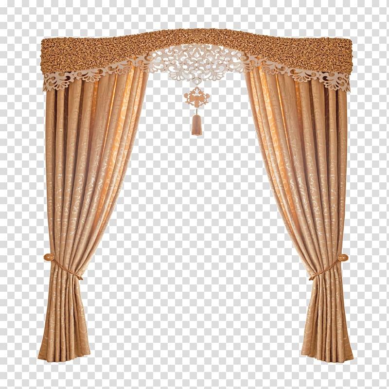 Brown window curtain, Curtain rod Window treatment Window blind.